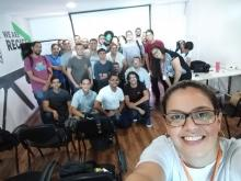 Grupo de estudantes em visita a empresa Accenture