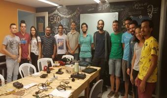 Estudantes participantes da oficina